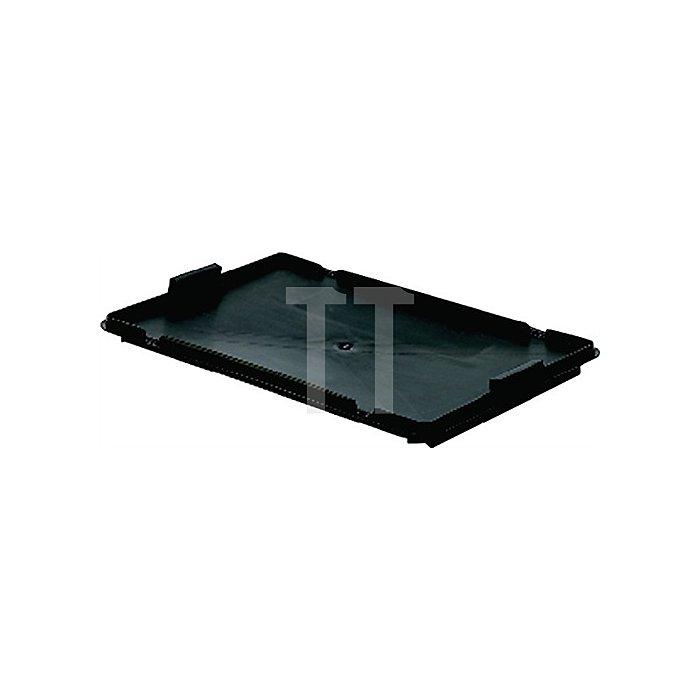 Verschlussdeckel schwarz L600xB400 f.448210/214 f.Drehstapelbehälter H.250