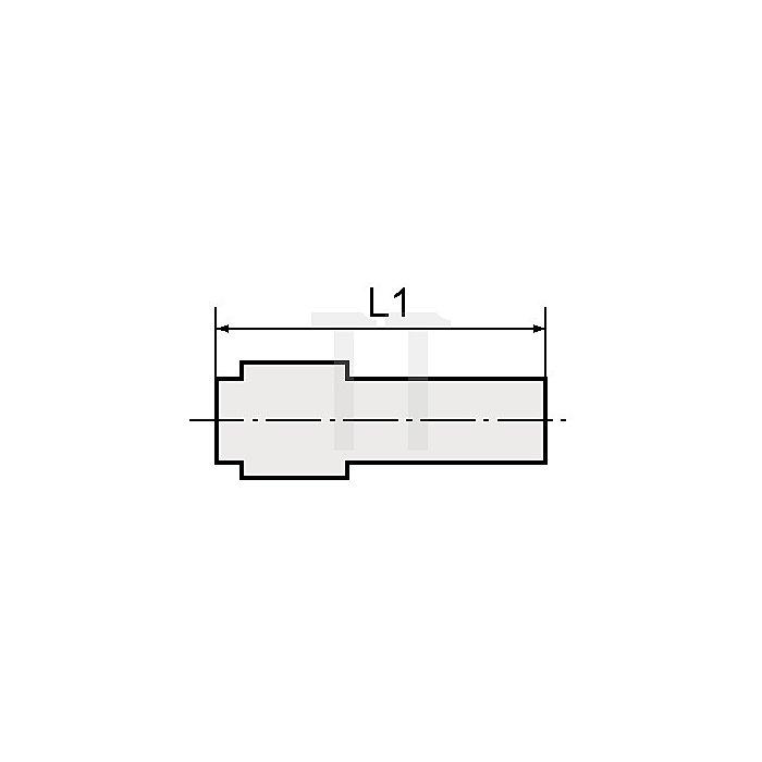 Verschlussstecker für Schlauch- Außen-Ø mm 8 L1 mm 36,6