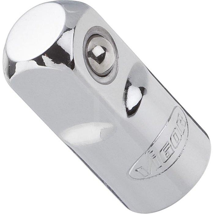 VIGOR Außenvierkant Antrieb 12,5 = 1/2 Zoll Innenvierkant Antrieb 10 = 3/8 Zoll Adapter V2108 - Vierkant hohl 10 mm (3/8 Zoll) - Vierkant massiv 12,5 mm (1/2 Zoll) - Gesamtlänge: 36 mm