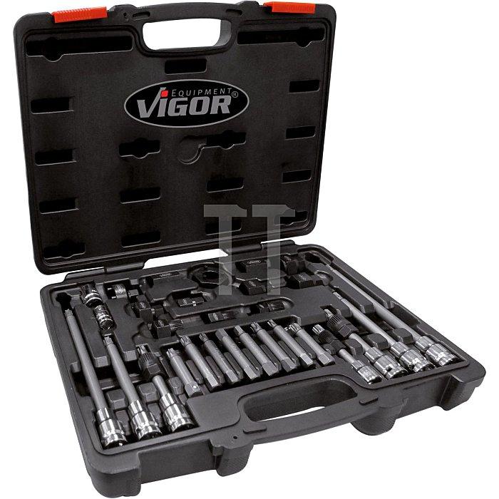 VIGOR Lichtmaschinen Steckschlüssel-Satz V2835 - Anzahl Werkzeuge: 29