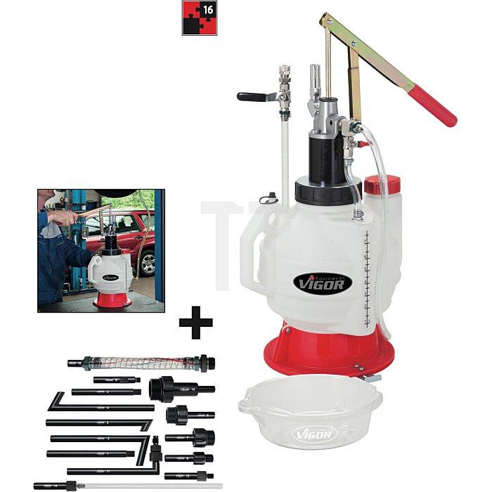 Vigor Öl-Einfüllgerät mit Adapter-Satz 16-teilig V2670