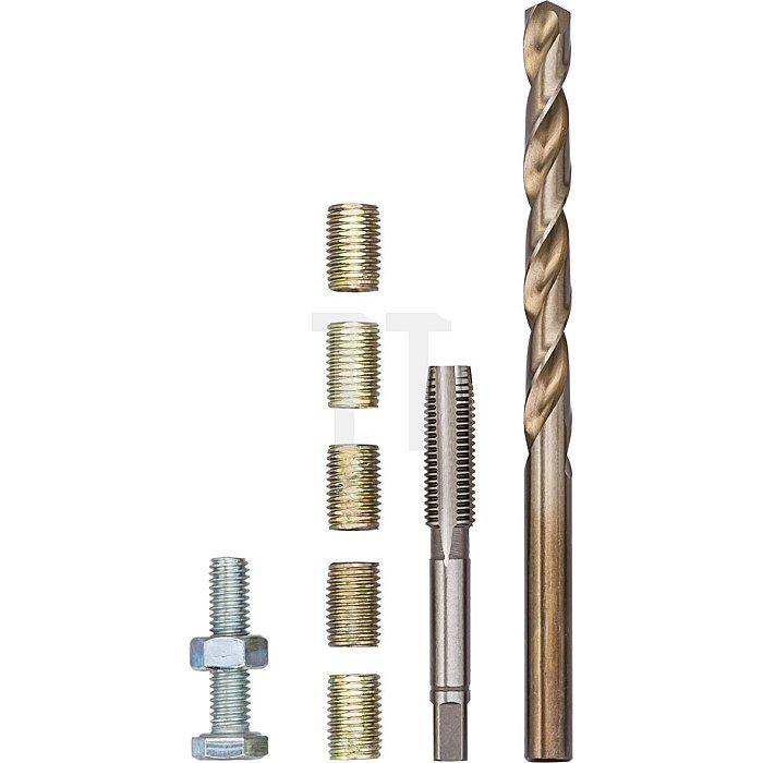 VIGOR Reparatur-Gewindehülse M6x1,00x12mm V4213 - M6 - Anzahl Werkzeuge: 5