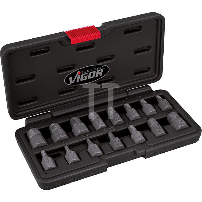 VIGOR Schraubenausdreher-Satz V3737 - Anzahl Werkzeuge: 15
