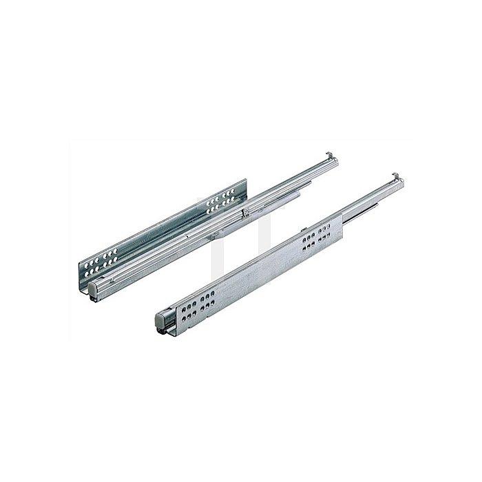 Vollauszug Quadro-6 m. Selbsteinzug 045288 Schubkastenlänge 380mm Stahl verz.