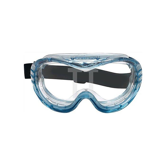Vollsichtschutzbrille Fahrenheit klar m.Neoprene-Kopfband Acetatscheibe 3M