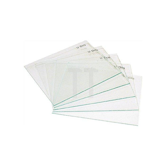 Vorsatzglas 90x110mm farblos f. Schweisserschutzschild