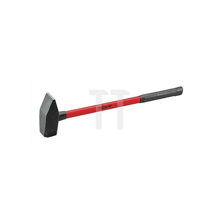 Vorschlaghammer 3kg Fiberglasstiel m.Stiel L.900mm