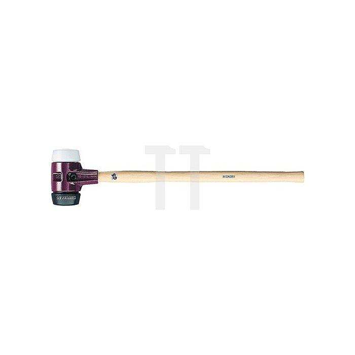 Vorschlaghammer Simplex 3200g L.800mm Kopf-D.80mm Gummi schw./Superpl. weiHalder