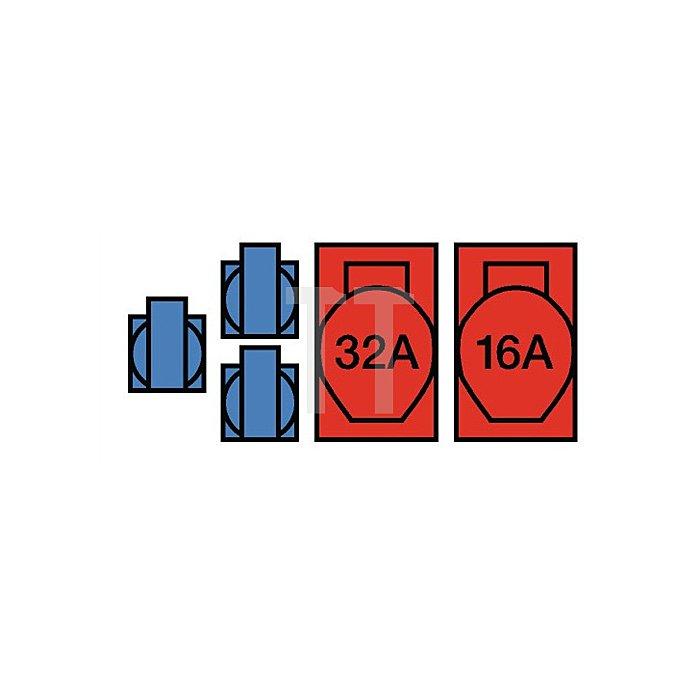 Wandstromverteiler Ku. 1xCEE 16/32A 3Steckdosen 230V VOTHA 3Sicherungen