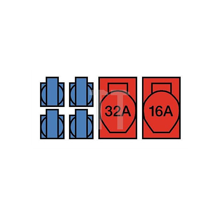 Wandstromverteiler Ku. m.FI 40A 1xCEE 32A/1xCEE VOTHA 16A/400V