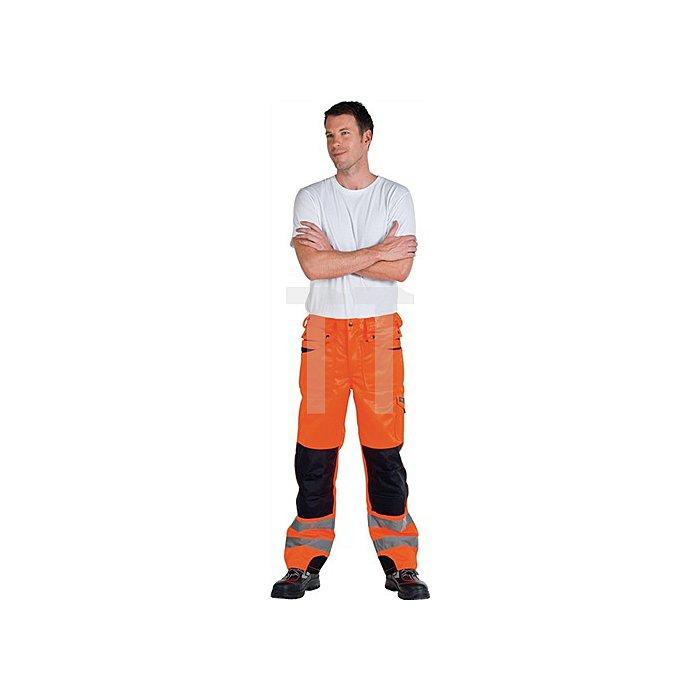 Warnschutz Bundhose Gr.52, EN20471 Kl.II orange/schwarz