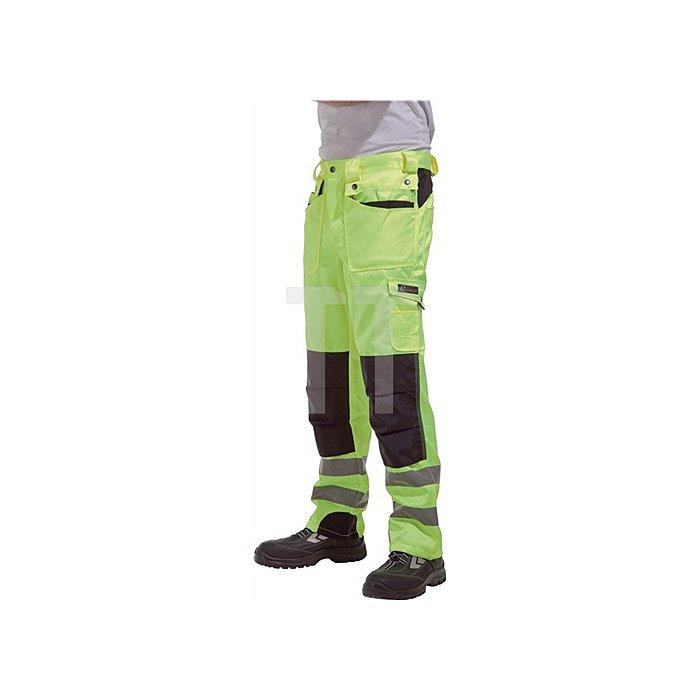 Warnschutz Bundhose Gr.58, EN20471 Kl.II gelb/schwarz