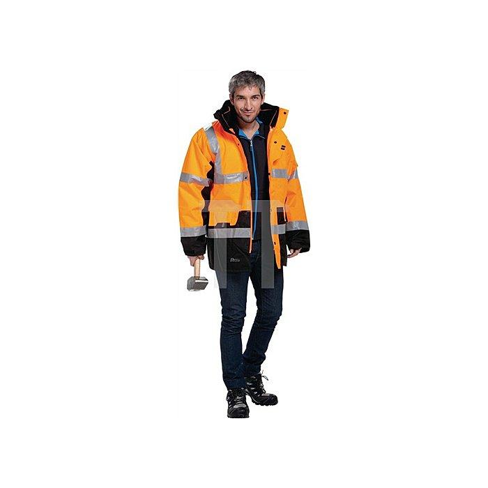Warnschutz-Parka 5in1, Gr.L orange, 100% PES