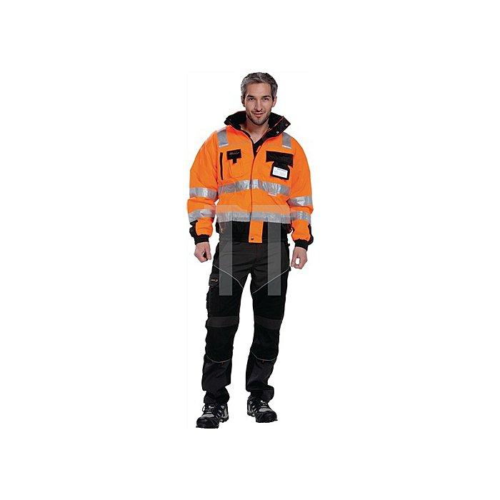 Warnschutz Pilotenjacke Gr.L orange/schwarz, 100% PES