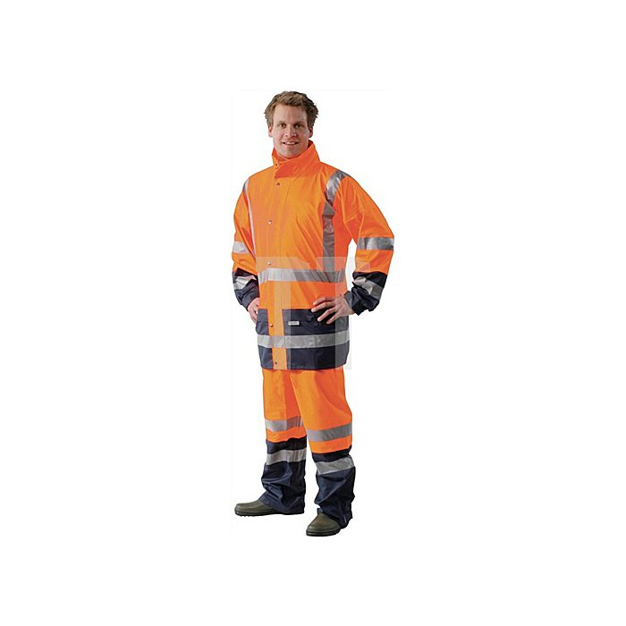 Warnschutz-Regenjacke orange/marine Gr.XXXL HIGH-VIS OCEAN Comfort Stretch