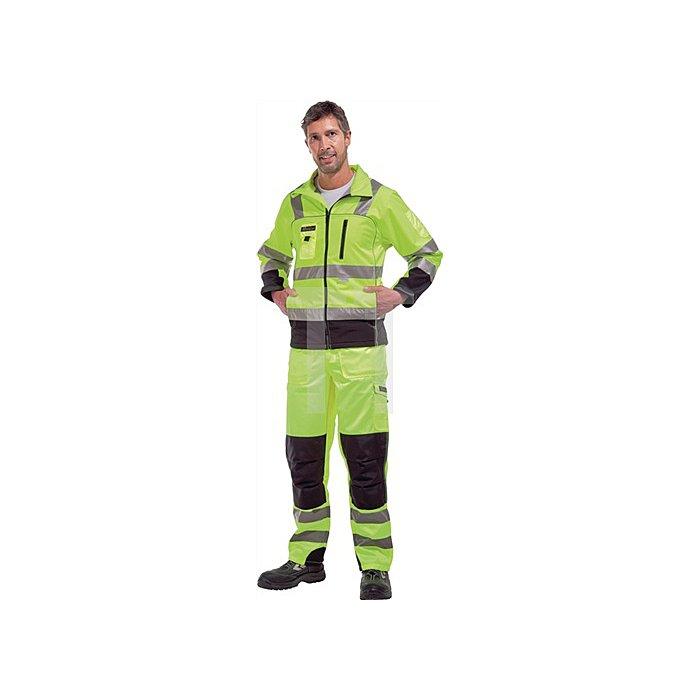 Warnschutz Softshelljacke Gr.XL, EN20471 Kl.III, gelb/schwarz