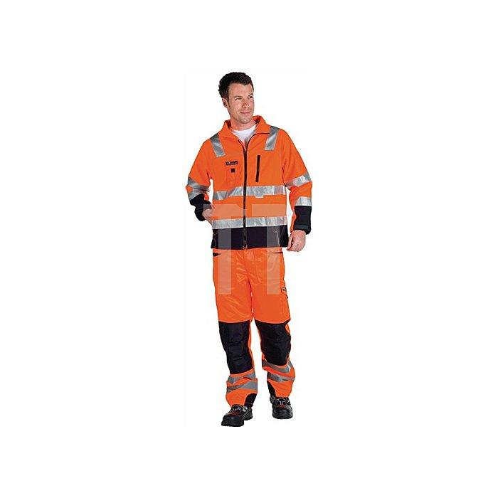 Warnschutz Softshelljacke Gr.XL, EN20471 Kl.III, orange/schwarz