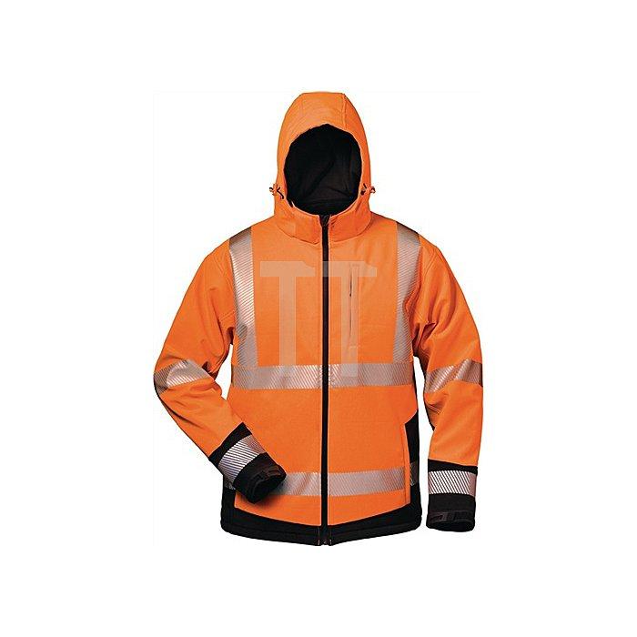 Warnschutz-Softshelljacke Lukas Gr.XXL orange/schwarz 100% Polyester