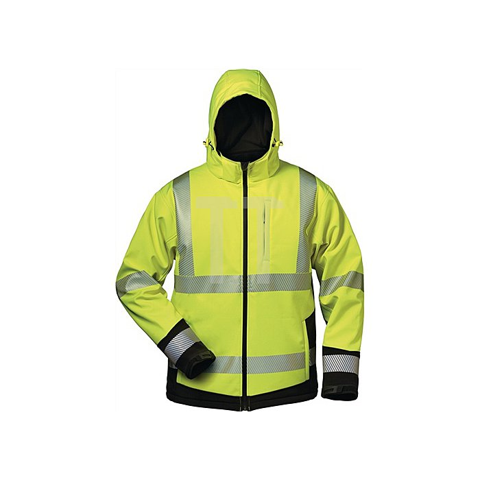 Warnschutz-Softshelljacke Melvin Gr.XL gelb/schwarz 100% Polyester