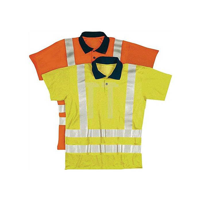 Warnschutzpoloshirt Gr.XXL orange 100% Polyester EN471