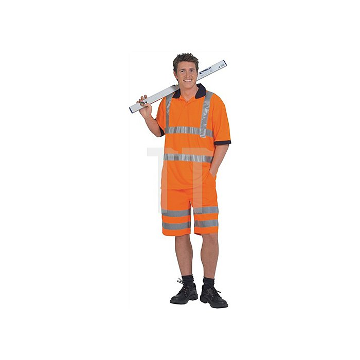 Warnschutzshorts Gr.58 orange 80%PES/20%CO EN471