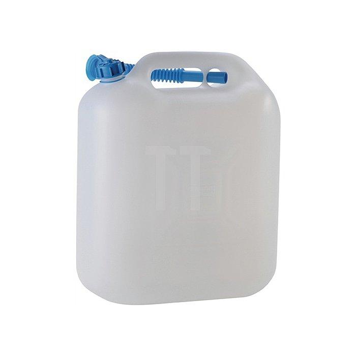 Wasserkanister 22 l PE natur H470xB335xT175mm Öffnung 29mm
