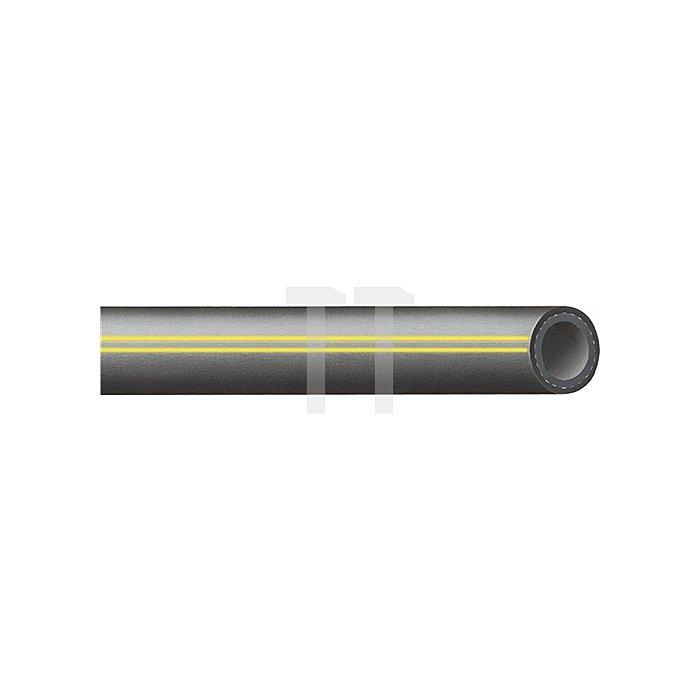 Wasserschl. 13 x 3,5 mm CALORFORM 40 m EPDM schwarz aussen m. gelben Streifen