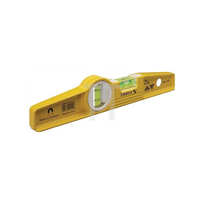 Wasserwaage Magnet 81SM gelb 25cm
