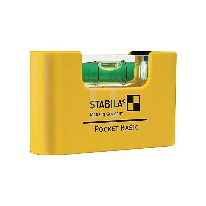 Wasserwaage Mini a. Kunststoff Pocket Basic 6,8cm