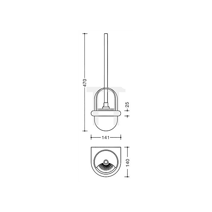 WC-Bürstengarnitur 477.20.100 50 Polyamid stahlblau