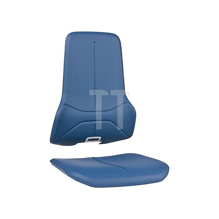 Wechselpolster Neon Integralschaum blau für Sitz u.Rückenlehne BIMOS