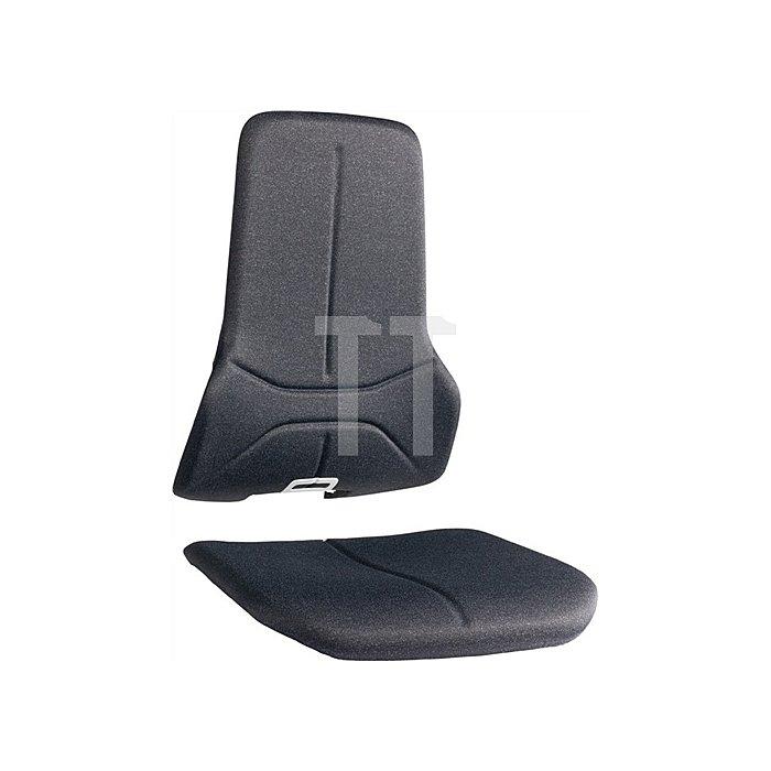 Wechselpolster Neon Stoff schwarz für Sitz u.Rückenlehne BIMOS