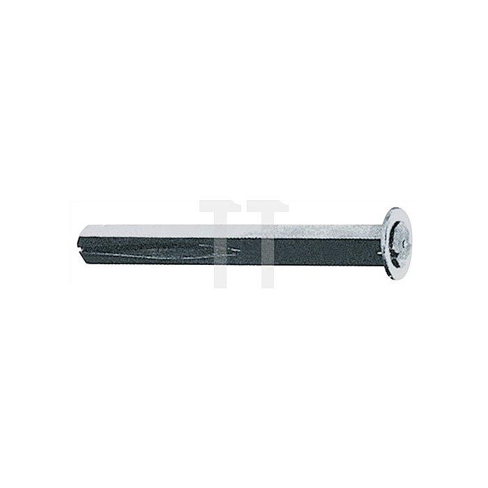 Wechselstift Typ B VK 10mm Länge 80mm Stahl verzinkt zur Durchsteckmontage