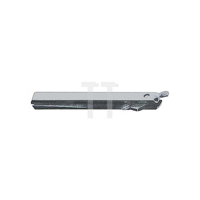 Wechselstift Typ K VK 10mm L. 65mm Stahl verz. f. einseitig gebohrte Türen