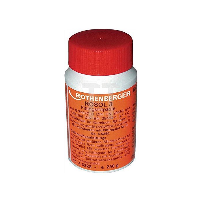 Weichlötpaste ROSOL 3 DIN EN 29453 S-SN97 Ag 3 Plastikflasche 250g
