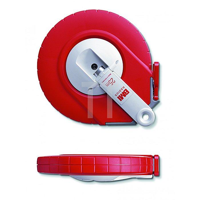 BMI Weisslackiertes Bandmaß, 25m, mm/inch, A 501225025A