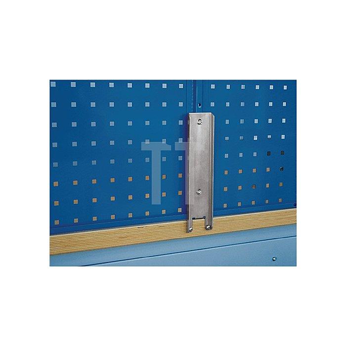 Werkbankhalterung für Loch-/Schlitzplatten f. B.1500/2000mm Werkbänke