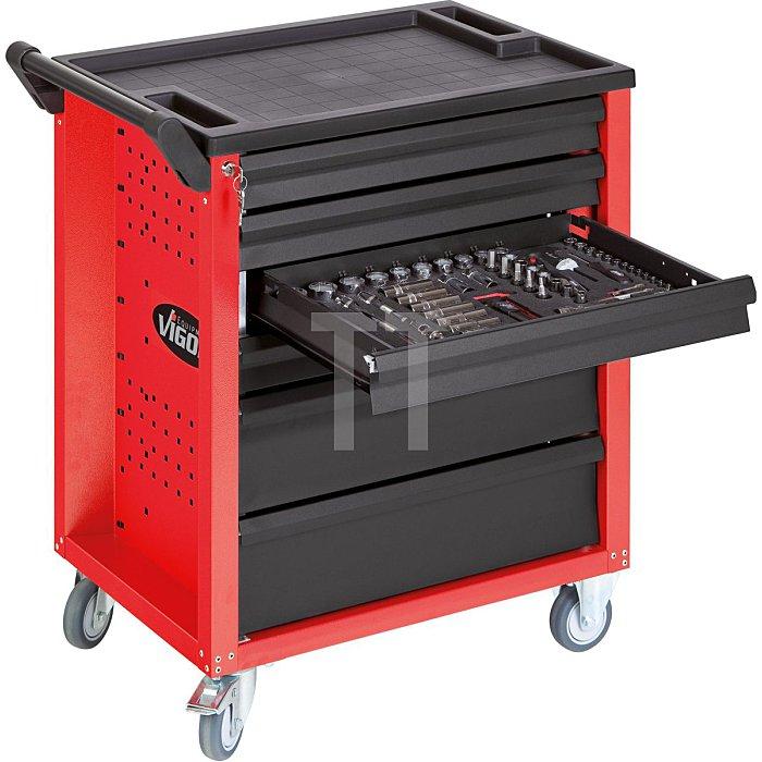 Werkstattwagen VIGOR 600 mit 6 Schubladen, rot