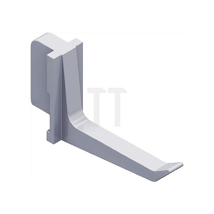 Werkzeughalter 11409 L. 40mm Ku. weiss passend zu Stahllochplatten 11400