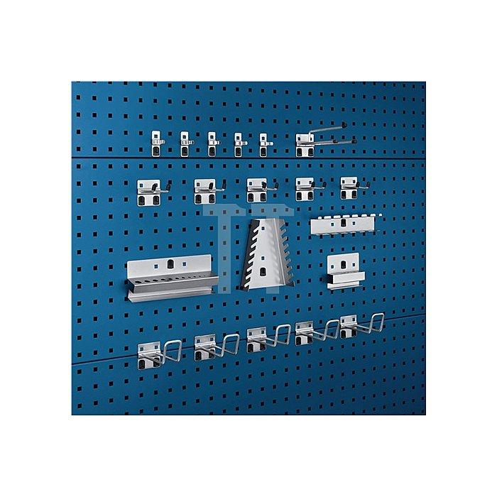 Werkzeughalter 20-tlg.Sortiment verzinkt 10 Haken 5 Halter 5 Klemmen f. Lochpl.