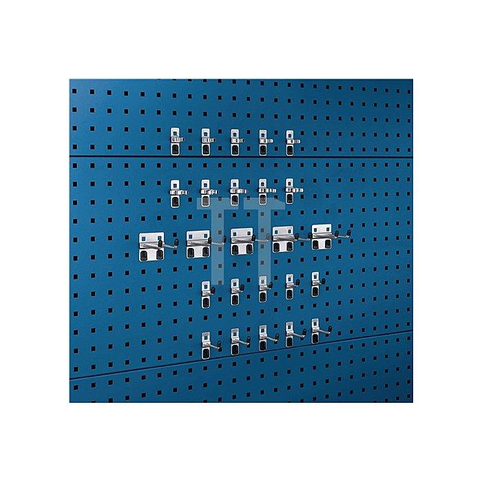 Werkzeughalter 25-tlg.Sortiment verzinkt 15 Haken 10 Klemmen für Lochplatten