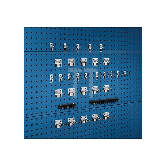 Werkzeughalter 32-tlg.Sortiment verzinkt 15 Haken 7 Halter 10 Klemmen f.Lochpl.