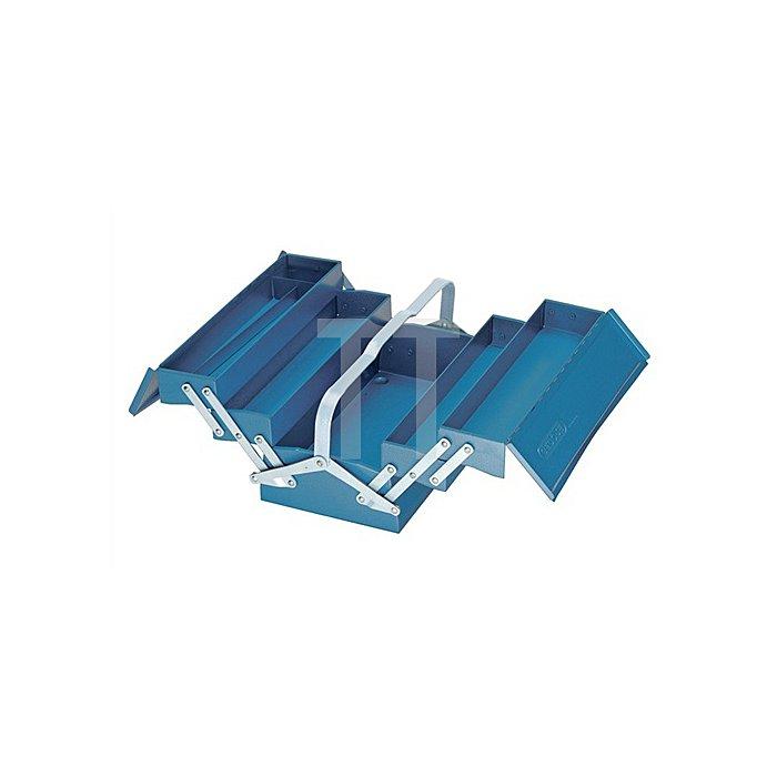 Werkzeugkasten leer, 5 Fächer, 210x420x225mm