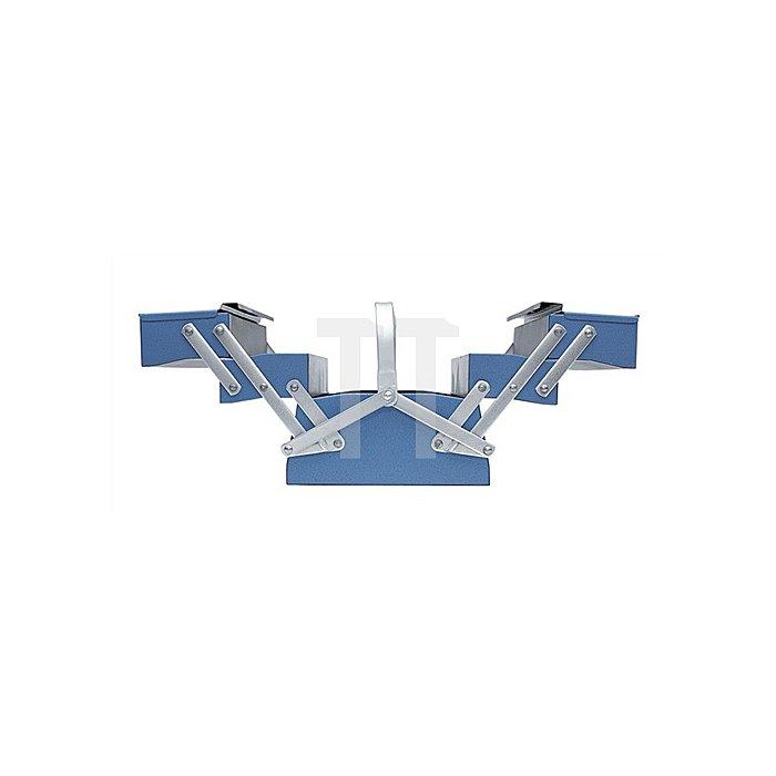 Werkzeugkasten leer, 5 Fächer, 210x535x220mm