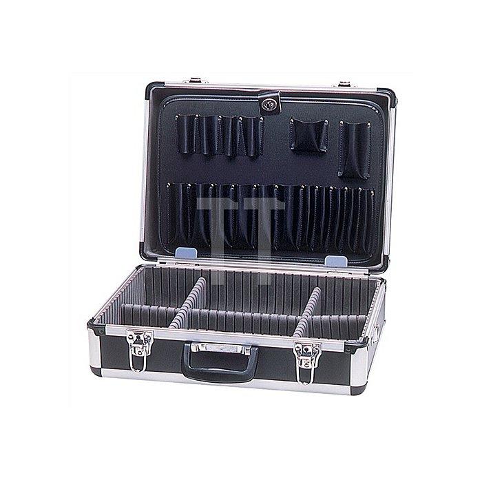 Werkzeugkoffer Alu. 450x330x150mm schwarz abschließbar