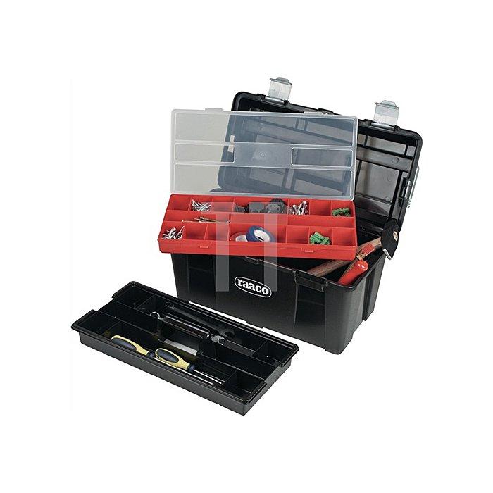 Werkzeugkoffer B.445xH.235xT.230mm a.PP m.Schnappverschluss schwarz/silber