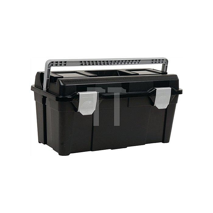 Werkzeugkoffer B.580xH.285xT.290mm a.PP m.Schnappverschluss schwarz/silber
