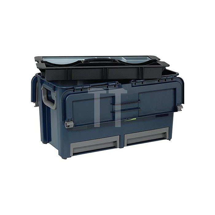 Werkzeugkoffer L.540xB.300xH.295mm 7Fächer/Trennw./2Schubl. Trgf.40kg a.PP