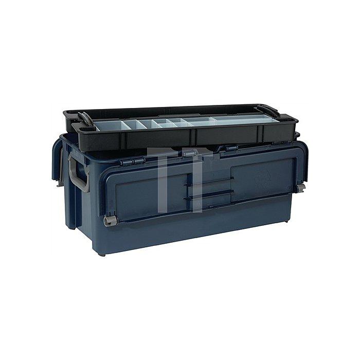 Werkzeugkoffer L.620xB.260xH.315mm 10Fächer/Trennw./Träger Trgf.50kg a.PP