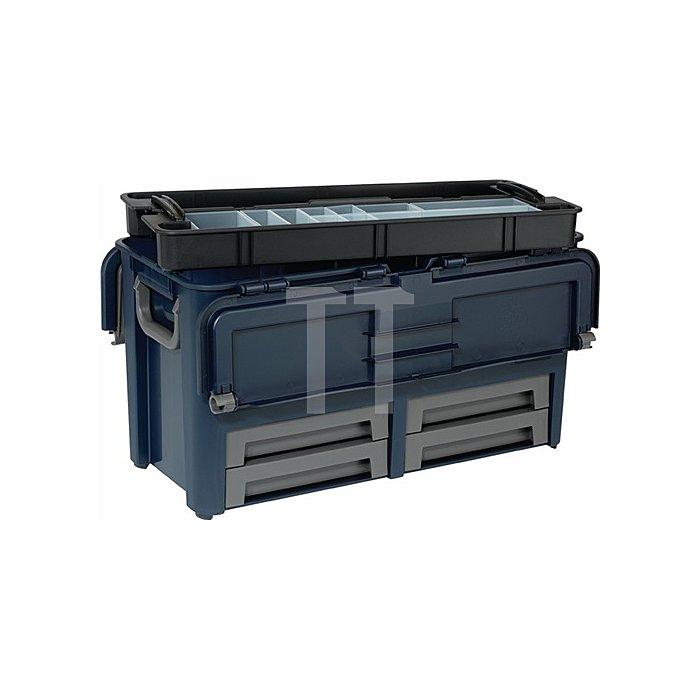 Werkzeugkoffer L.620xB.320xH.315mm 10Fächer/Trennw./4Schubl. Trgf.50kg a.PP
